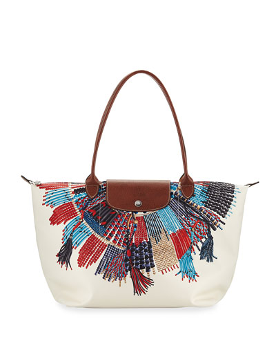 Le Pliage Collier Massai Nylon Shoulder Bag