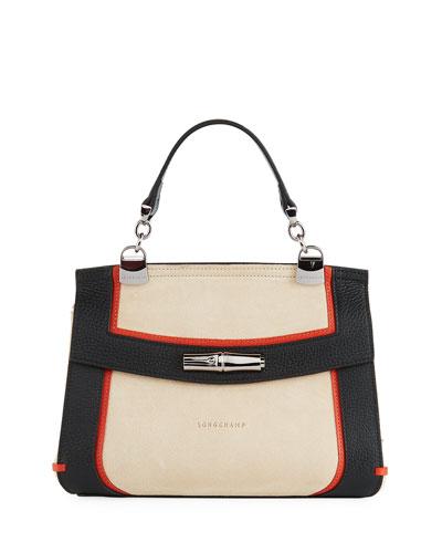 Madeleine Tribu Leather/Suede Crossbody Bag