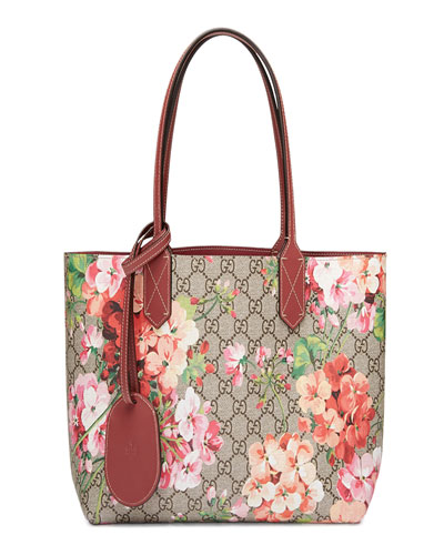 GG Blooms Reversible Small Tote Bag