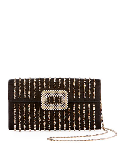 Shirting Strass Diadem Clutch Bag