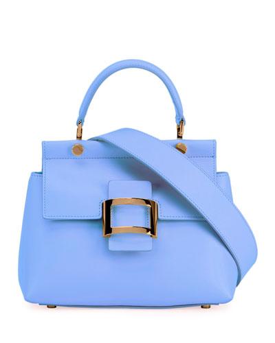 Viv Cabas Mini Leather Crossbody Bag