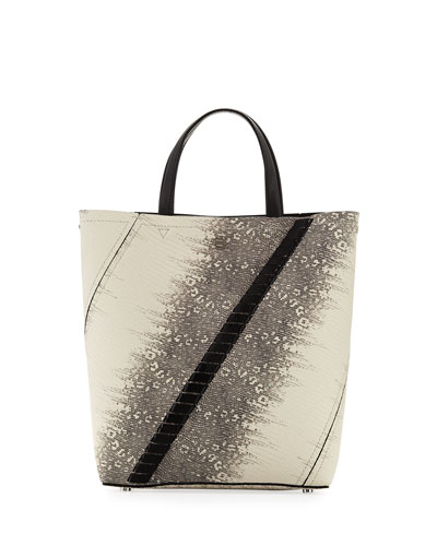 Hex Embossed Lizard Tote Bag