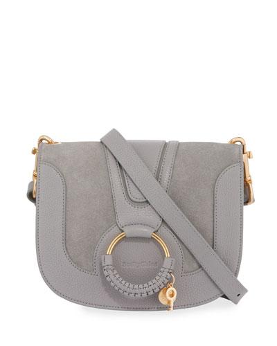 Hana Small Leather Crossbody Bag, Sky