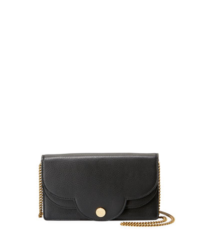 Polina Layered Crossbody Wallet On A Chain, Black