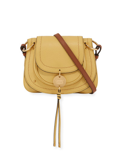 Susie Pebbled Mini Crossbody Bag, Yellow