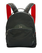 Backloubi Small Nylon Backpack, Black