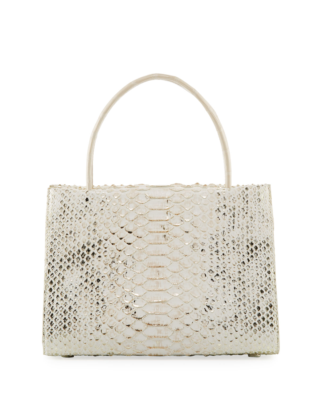 Wallis Mini Python Tote Bag