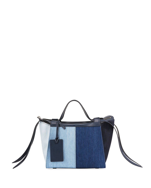 Usonia Medium Patchwork Jeans Tote Bag