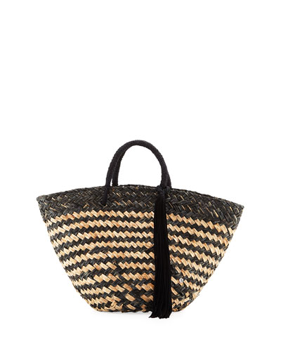 Bora Bora Straw Beach Tote Bag