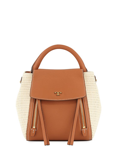 Half-Moon Straw Crossbody Bag