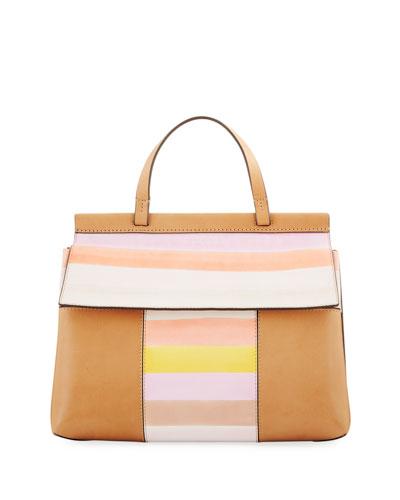 Block-T Studded Satchel Bag