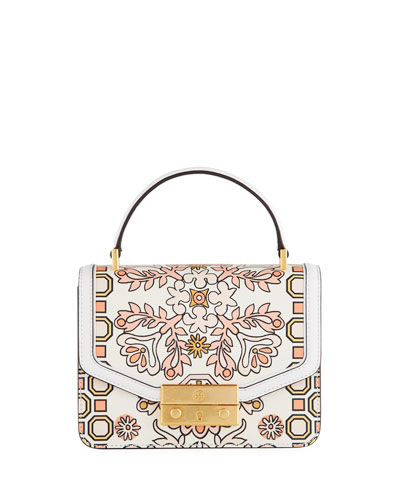 Juliette Mini Printed Leather Top-Handle Bag
