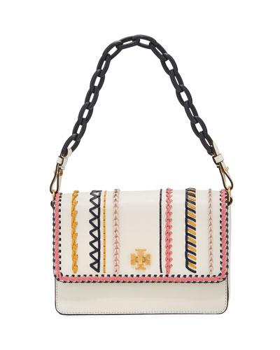 Kira Whip-Stitch Shoulder Bag