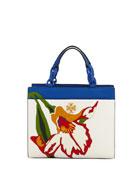 Kira Small Floral Appliqué Tote Bag