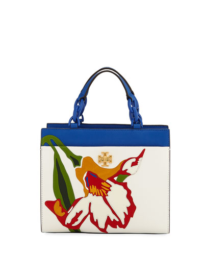 Kira Small Floral Appliqué Tote Bag