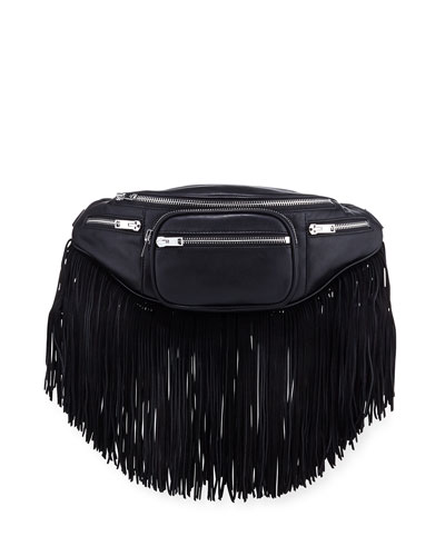Attica Soft Small Belt Bag with Fringe Trim