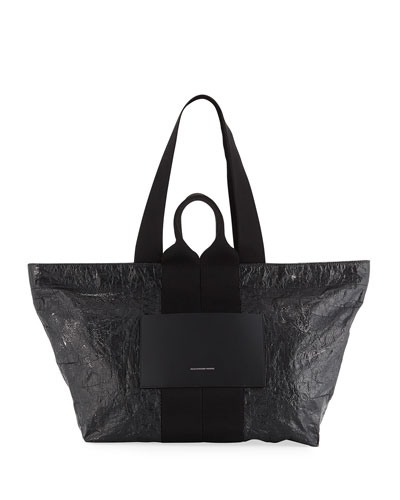 AW Logo Crackled Extra Large Tote Bag