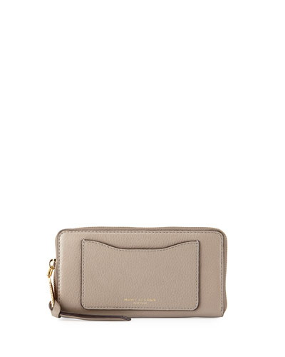 Recruit Leather Continental Zip Wallet, Mink