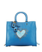 x Keith Haring Rogue Sequin Heart Satchel Bag