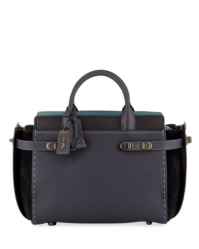 Swagger 27 Mixed-Leather Satchel Bag