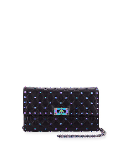 Rockstud Spike Shoulder Bag - Iridescent Hardware