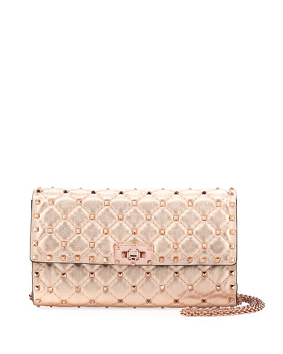 Rockstud Spike Shoulder Bag - Rose Hardware