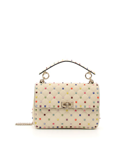 Candy-Stud Medium Shoulder Bag
