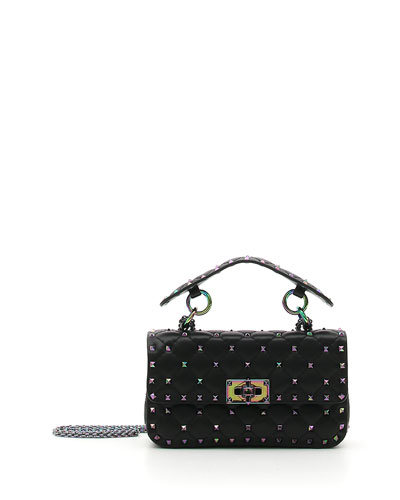Iridescent Rockstud Shoulder Bag