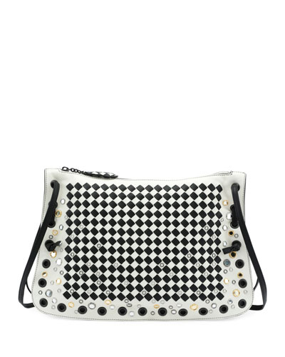 Zip Top <em>Intrecciato</em> Crossbody Bag