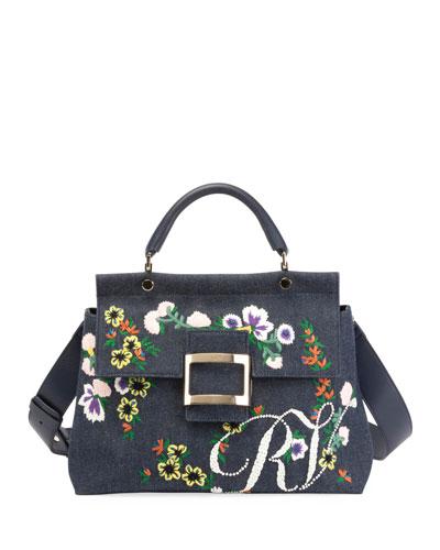 Viv Flower Cabas Satchel Bag