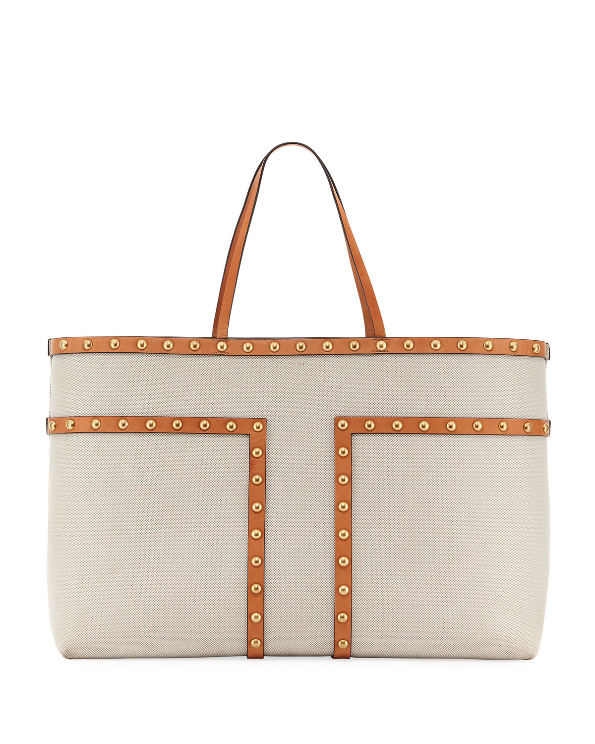 Block-T Stud XL Canvas Tote Bag