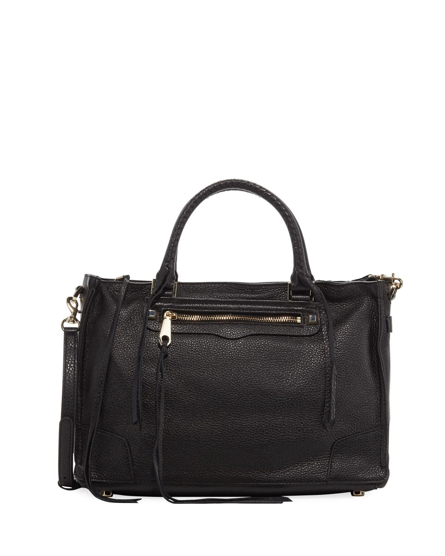 Regan Satchel Bag, Black