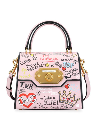 Welcome Graffiti Small Shoulder Bag