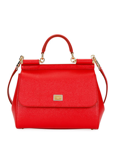 Miss Sicily Medium Calf Leather Satchel Bag