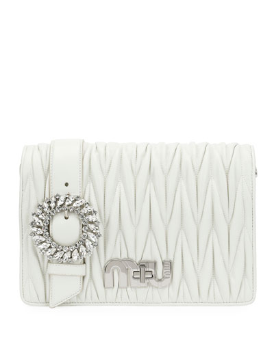 My Miu Matelassé Leather Small Clutch Bag