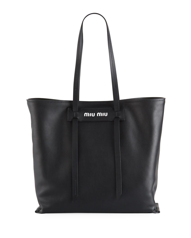 Miu Patch Medium Grace Lux Tote Bag