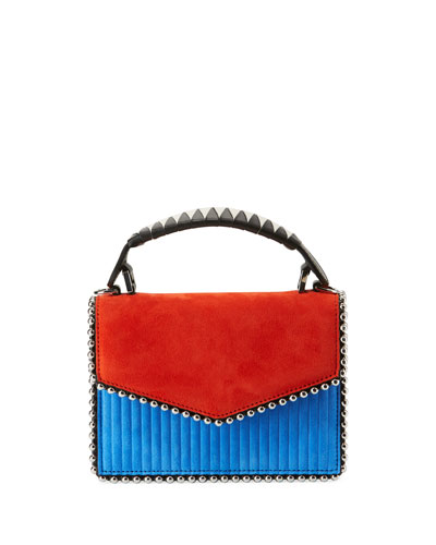 Lulu Colorblock Top Handle Bag