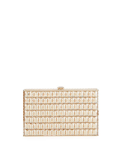 Sideways Cut Crystal Clutch Bag