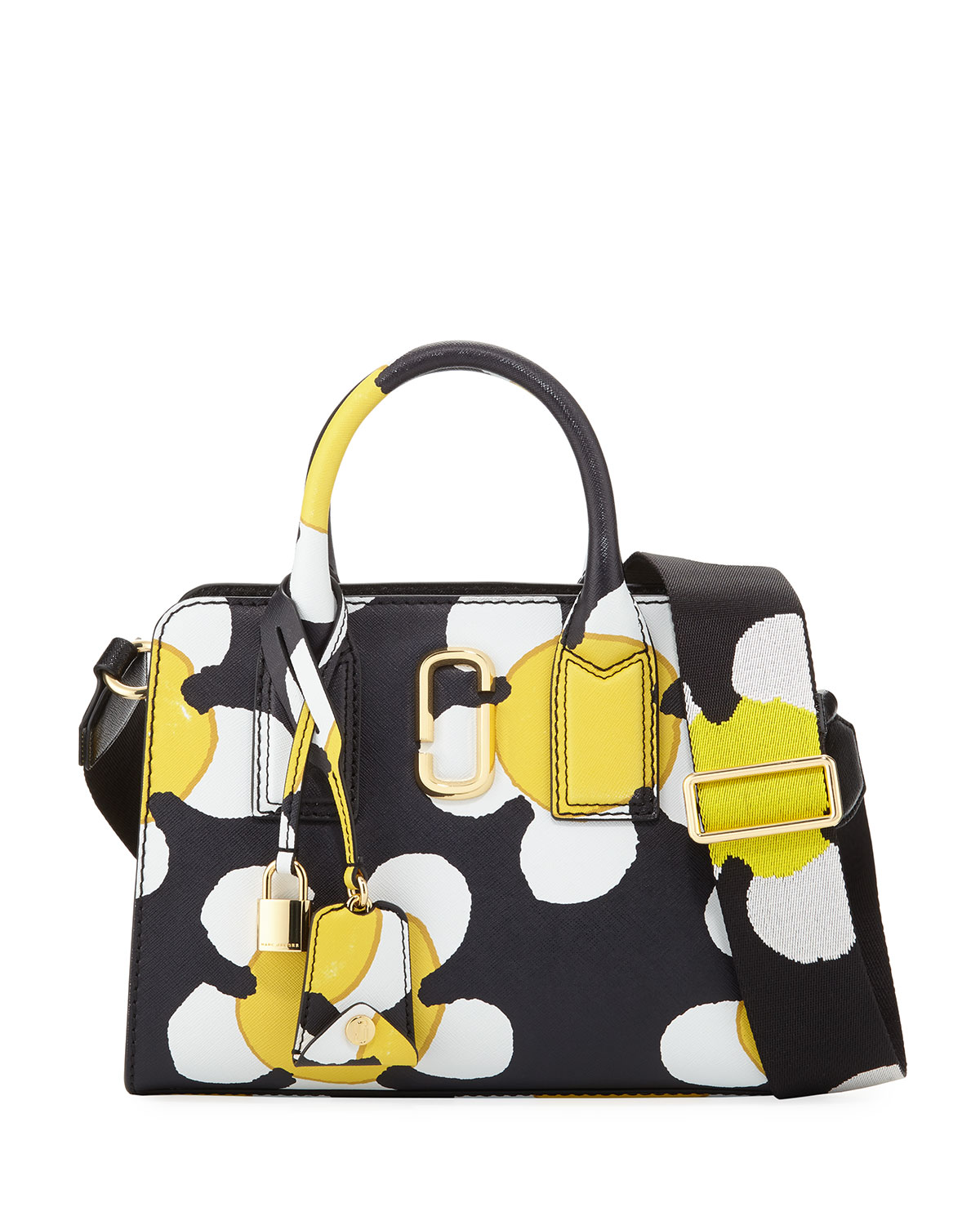 Little Big Shot Daisy Saffiano Leather Tote Bag