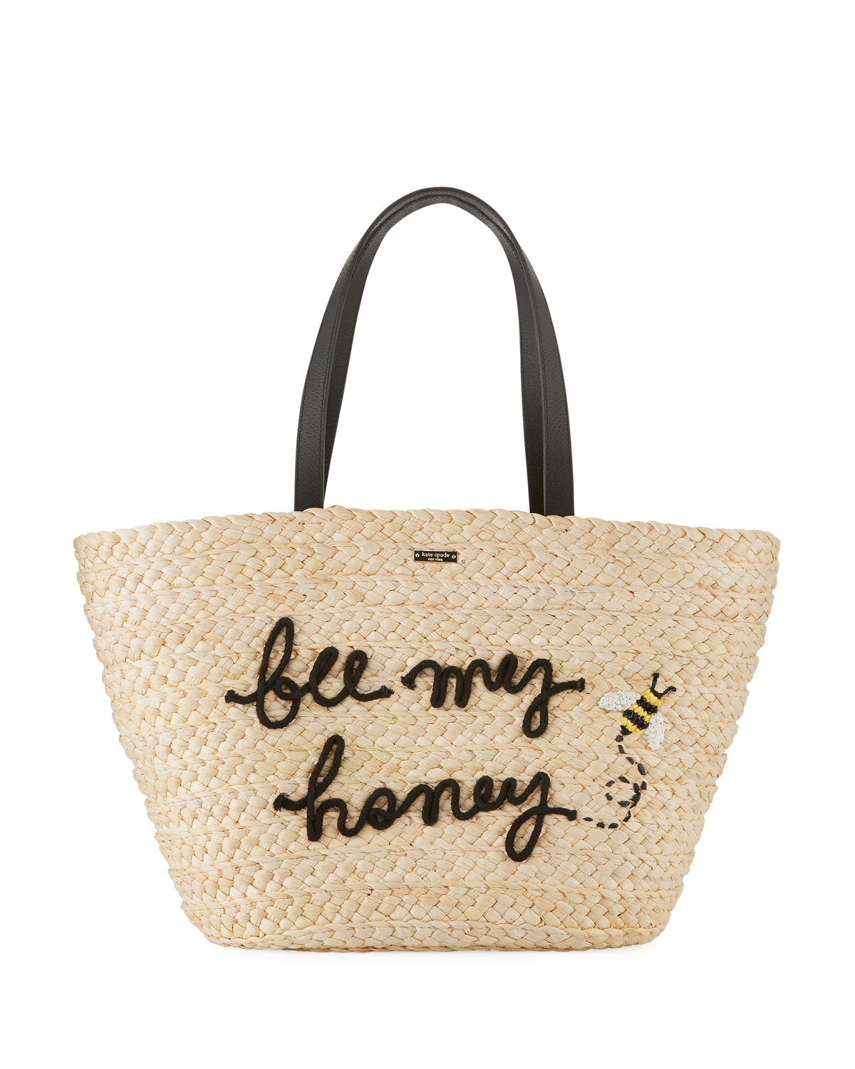 bee my honey picnic perfect straw tote bag