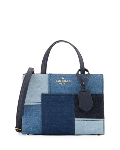 thompson street denim crossbody bag