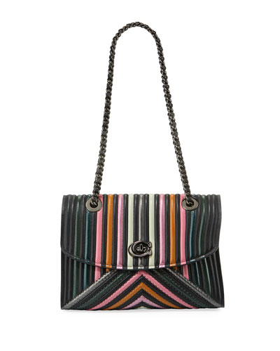 Parker Colorblock Quilting Shoulder Bag
