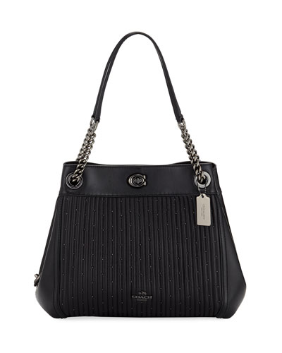 Edie Quilted Leather Shoulder Bag