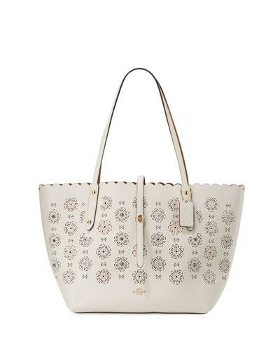Market Tea Rose Cutout Tote Bag