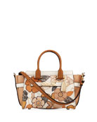 Swagger 27 Tea Rose Mixed Leather Satchel Bag