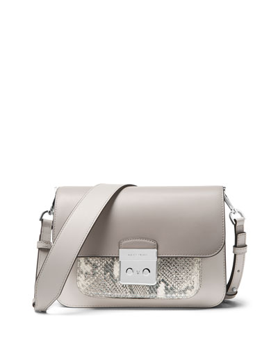 Sloan Editor Large Shoulder Bag - Silver Hardware