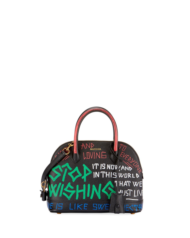 XS Graffiti Leather Top Handle Bag