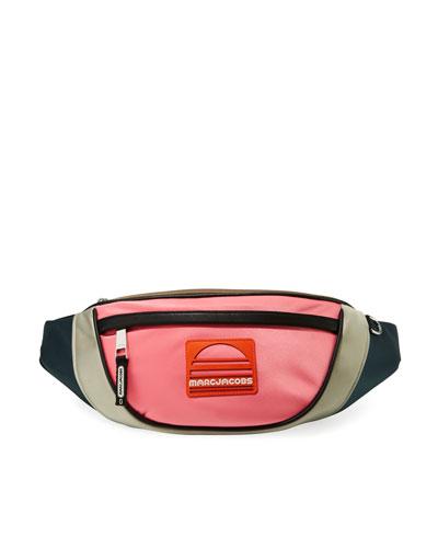 Nylon Colorblock Belt Bag