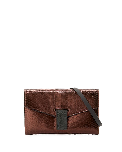 City Mini Python Crossbody Bag