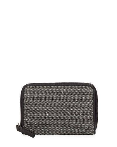 Monili and Leather Mini Wallet